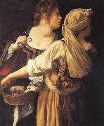 Artemisia gentileschi Judith and Her Maidser oil painting artist