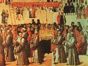 BELLINI, Gentile Procession in the Piazza di San Marco oil