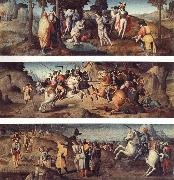 Bachiacca The Baptism of St.Acacius and Company St.Acacius Combats the Rebels with the Help of the Angels The Martyrdom of St.Acacius and Company oil painting picture wholesale