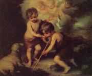 Bartolome Esteban Murillo Children with a Shell oil painting picture wholesale