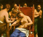 CAGNACCI, Guido The Death of Cleopatra oil painting