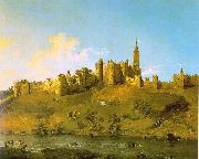 Canaletto Alnwick Castle at Northumberland oil painting picture wholesale