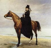 Carolus-Duran At the Seaside,Sophie Croizette on horseback oil painting picture wholesale