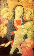 Castello Nativity, Master of the The Virgin Child Surrounded by Four Angels oil painting artist