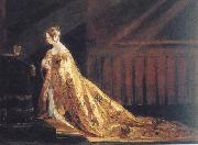 Charles Robert Leslie Queen Victoria in her Coronation Robes oil painting picture wholesale