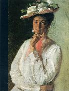 Chase, William Merritt Woman in White oil