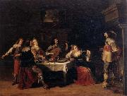 Christoph jacobsz.van der Lamen Cavaliers and courtesans in an interior oil painting picture wholesale