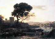 Claude Lorrain Landscape with Shepherds - The Pont Molle oil painting picture wholesale