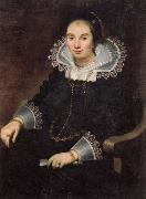 Cornelis de Vos Portrait of a Lady with a Fan oil painting picture wholesale