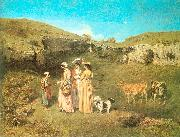 Courbet, Gustave The Young Ladies of the Village oil painting picture wholesale