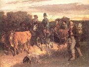Courbet, Gustave The Peasants of Flagey Returning from the Fair Spain oil painting reproduction