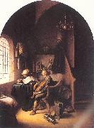 DOU, Gerrit An Interior with Young Violinist oil painting picture wholesale