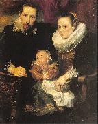 Dyck, Anthony van Family Portrait oil