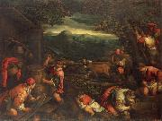 Francesco Bassano the younger Autumn oil painting