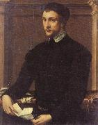 Francesco Salviati Portrait of a Gentleman with a Letter oil painting picture wholesale