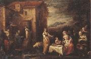 Francisco Antolinez y Sarabia The rest on the flight into egypt oil painting picture wholesale