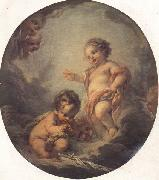 Francois Boucher The Baby Jesus and the Infant St.John oil painting picture wholesale