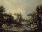 Francois Boucher Landscape with a Pond oil painting picture wholesale
