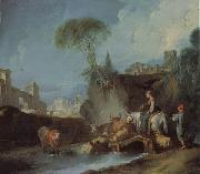 Francois Boucher Birdge Crossing oil painting picture wholesale
