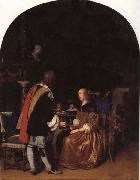 Frans van mieris the elder Refresbment with Oysters oil painting artist