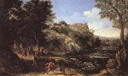 Gaspard Dughet Landscape with a Dancing Faun oil painting picture wholesale