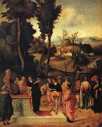 Giorgione Moses' Trial by Fire oil painting picture wholesale