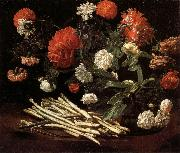 Giovanni Martinelli Still Life with Roses,Asparagus,Peonies,and Car-nations oil painting picture wholesale