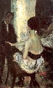 Glackens, William James Seated Actress with Mirror oil painting picture wholesale