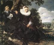 HALS, Frans Married Couple in a Garden oil painting picture wholesale