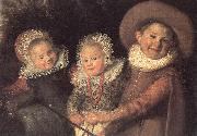 HALS, Frans Three Children with a Goat Cart (detail) oil painting picture wholesale