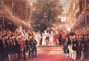 Henry Courtnay Selous The Opening Ceremony of the Great Exhibition,I May 1851 oil painting artist