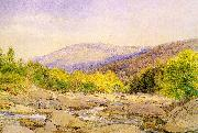 Hill, John William View on Catskill Creek oil painting artist
