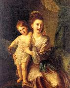 Hone, Nathaniel Anne Gardiner with her Eldest Son Kirkman oil painting artist