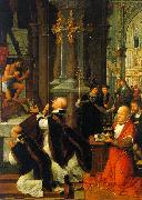 Isenbrandt, Adriaen The Mass of St. Gregory oil painting artist