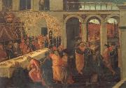 JACOPO del SELLAIO The Banquet of Ahasuerus oil painting artist