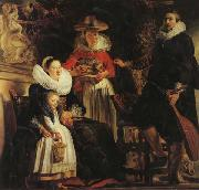 Jacob Jordaens The Artist and His Family in a Garden oil painting picture wholesale