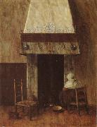 Jacobus Vrel An Old Woman at he Fireplace oil painting picture wholesale