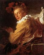 Jean Honore Fragonard Man Playing an Instrument oil painting picture wholesale