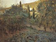 Joaquin Mir Trinxet The Hermitage Garden oil painting artist