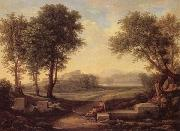 Johann Christian Reinhart An Ideal Landscape oil painting artist