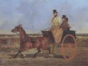 John Frederick Herring A Horse and Trap on the York Road oil painting artist