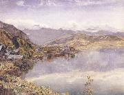 John William Inchbold The Lake of Lucerne,Mont Pilatus in the Distance oil painting picture wholesale