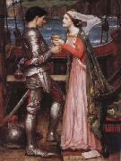 John William Waterhouse Tristram and Isolde oil painting picture wholesale