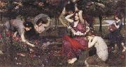 John William Waterhouse Flor and the Zephyrs oil painting picture wholesale