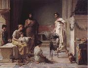 John William Waterhouse A Sick Child Brought into the Temple of Aesculapius oil painting picture wholesale