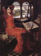 John William Waterhouse i am Half-Sick of Shadows said the Lady of Shalott oil painting reproduction