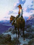 Johnson, Frank Tenney The Rustler oil painting artist