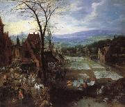 Joos de Momper A Flemish Market and Washing-Place oil painting artist
