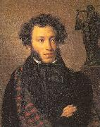 Kiprensky, Orest Portrait of the Poet Alexander Pushkin oil painting artist