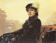 Kramskoy, Ivan Nikolaevich Portrait of a Woman oil painting artist